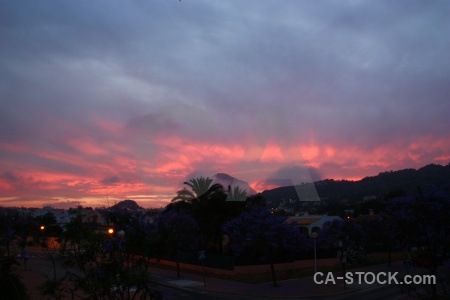Javea europe sunrise sky cloud.
