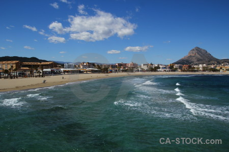 Javea europe water sea coast.