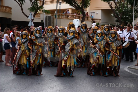 Javea fiesta costume person spear.
