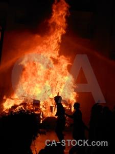 Javea fiesta fire person silhouette.