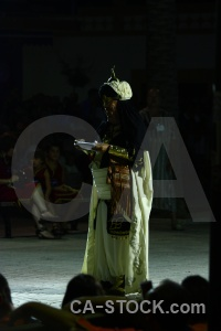 Javea fiesta moors costume person.