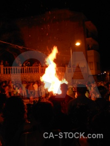 Javea fire person fiesta flame.