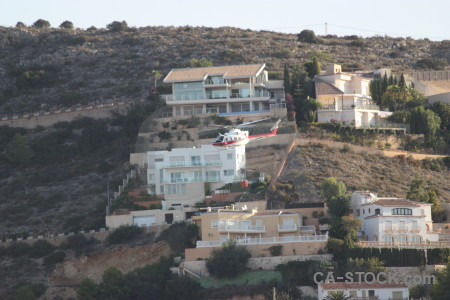 Javea firefighting montgo fire vehicle helicopter.