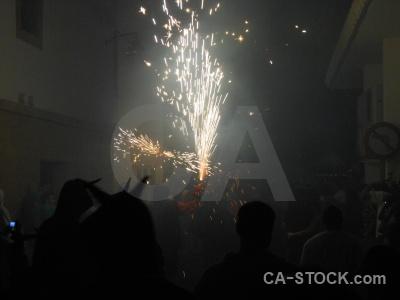Javea firework building correfocs fiesta.