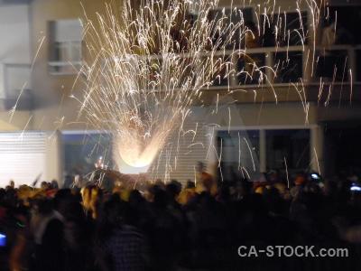 Javea firework fiesta correfocs building.
