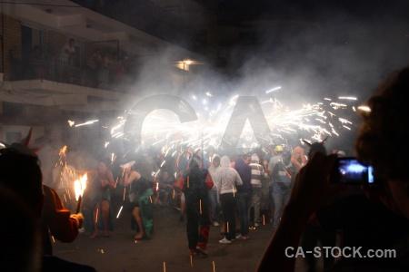 Javea firework spain correfocs fiesta.