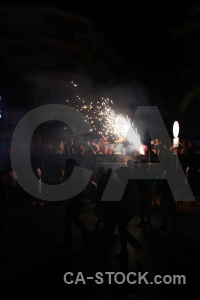 Javea firework spain fiesta europe.