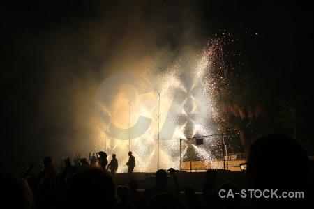 Javea firework spark silhouette spain.