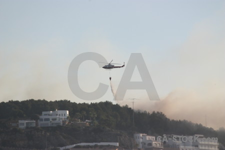 Javea helicopter firefighting vehicle europe.