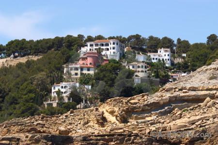 Javea house cliff rock spain.