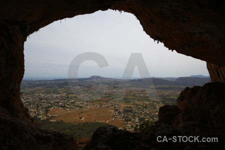 Javea montgo eye climb rock spain cave.