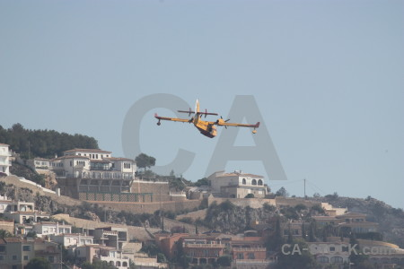 Javea montgo fire airplane firefighting spain.