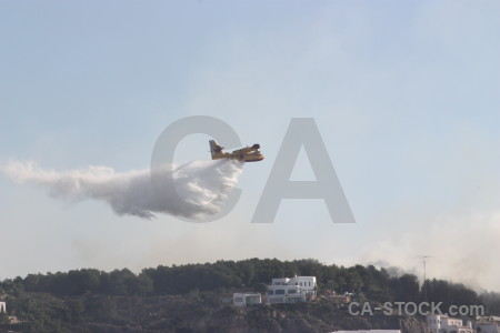 Javea montgo fire europe spain firefighting.