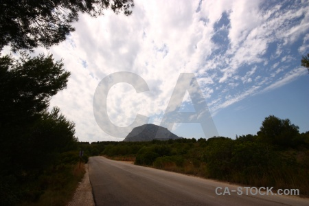 Javea montgo mountain sky europe.