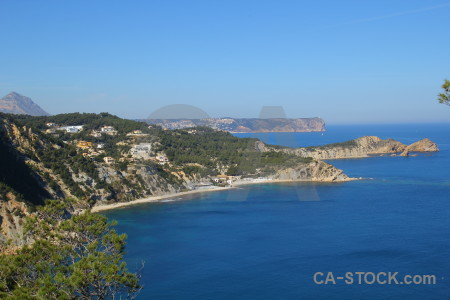 Javea montgo sea europe mountain.