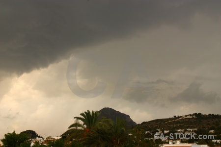 Javea montgo sky spain cloud.