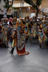 Javea moors person costume fiesta.