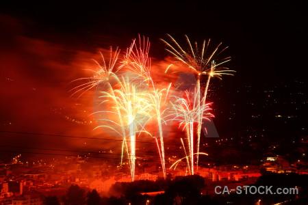 Javea night orange europe firework.