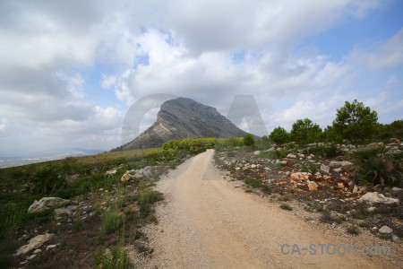 Javea path spain montgo mountain.