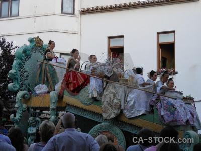 Javea person building float fiesta.