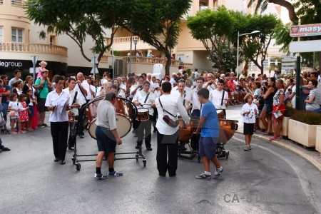 Javea person moors fiesta drum.
