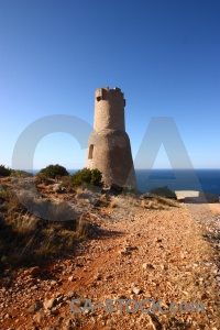 Javea plant tower sky europe.