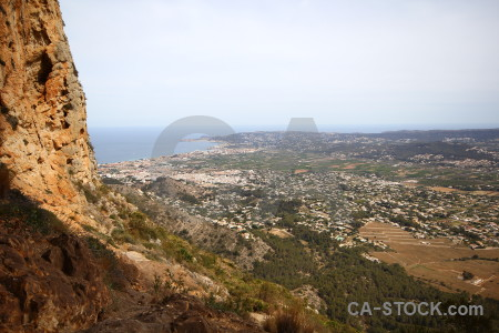 Javea spain cave montgo eye climb rock.