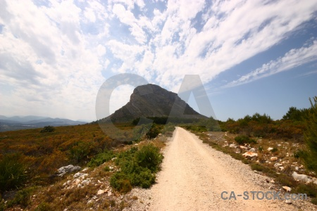 Javea spain europe montgo path.