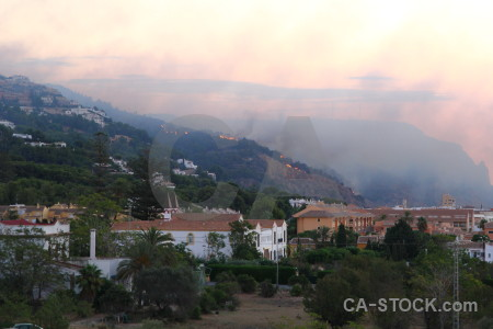 Javea spain europe smoke montgo fire.