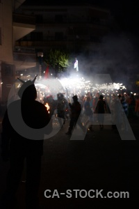 Javea spain fiesta europe firework.