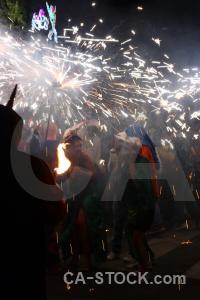 Javea spain firework fiesta correfocs.