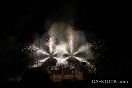 Javea spain firework spark silhouette.