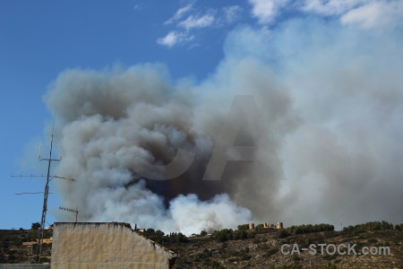 Javea spain montgo fire europe smoke.