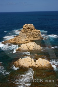 Javea spain water sea rock.