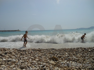 Javea wave water spain person.