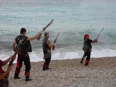 Javea weapon sea costume spain.