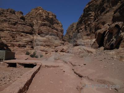 Jordan cliff ancient historic asia.