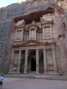 Jordan middle east petra ancient al khazneh.