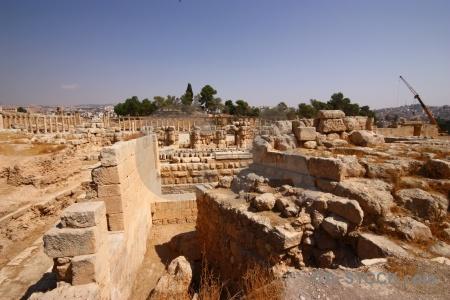 Jordan middle east ruin historic pillar.