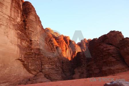 Jordan mountain sand western asia bedouin.