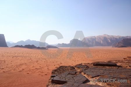Jordan mountain sky desert landscape.