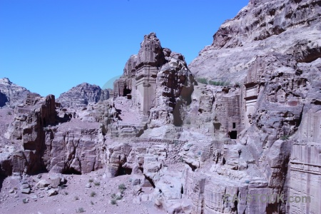 Jordan petra western asia carving middle east.