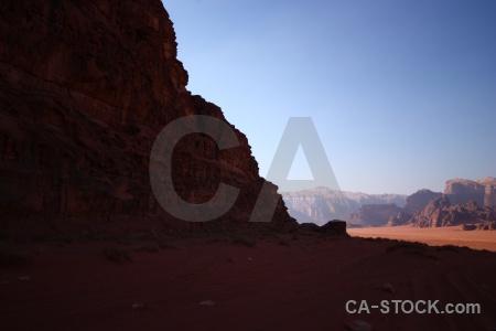 Jordan rock desert sand asia.