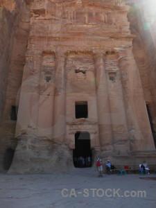 Jordan rock historic western asia tomb.