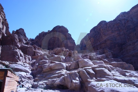 Jordan rock landscape middle east petra.