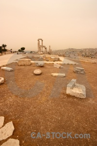 Jordan stone pillar historic amman.