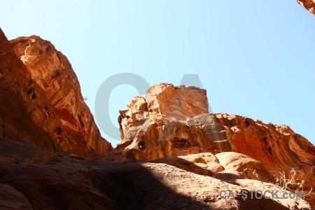 Jordan unesco petra middle east rock.
