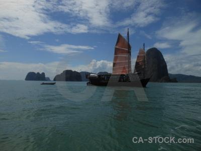 June bahtra water sea phang nga bay boat.