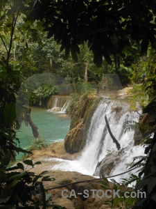 Jungle laos waterfall tad sae se.