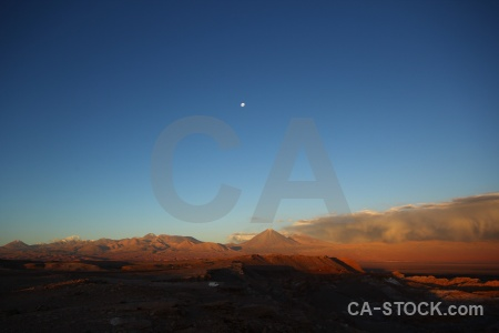 Juriques licancabur stratovolcano moon cloud.